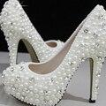 Великолепный Мода Обувь для свадебной церемонии роскошь Имитация Перл Свадьба Свадебная Обувь Для Женщин 2 Дюйм(ов) Каблуки леди обувь
