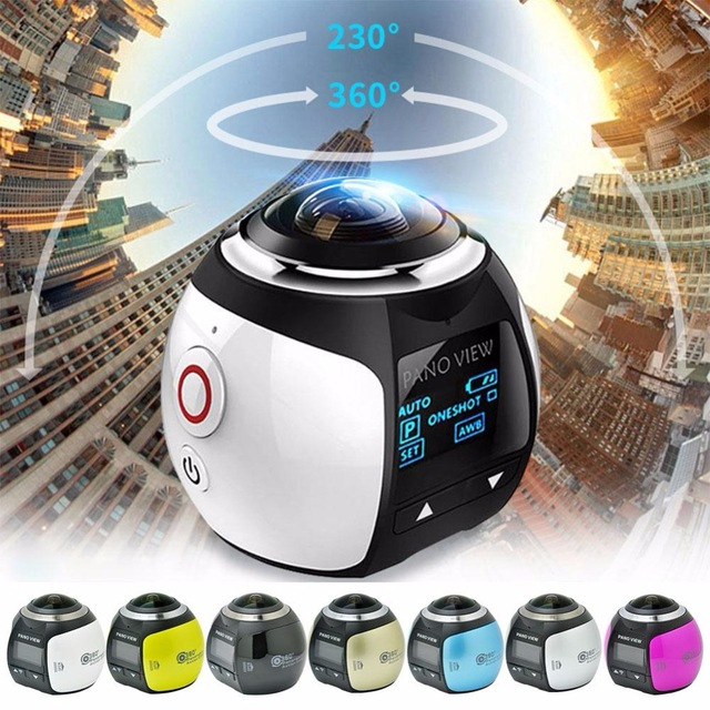 360 Action Camera Wifi 4K Mini Panoramic Camera 2448*2448 Ultra HD Panorama Camera 360 Degree Waterproof Sport Driving VR Camera