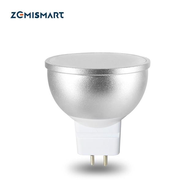 RGBW Bulb LED Light GU5.3 Intelligent Alexa Google Home Voice Control WIFI APP Control Wireless Timer 110v to 240v