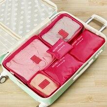 6 PCS Travel Storage Bag Set Waterproof NylonTidy Organizer Wardrobe Suitcase Pouch Case Shoes