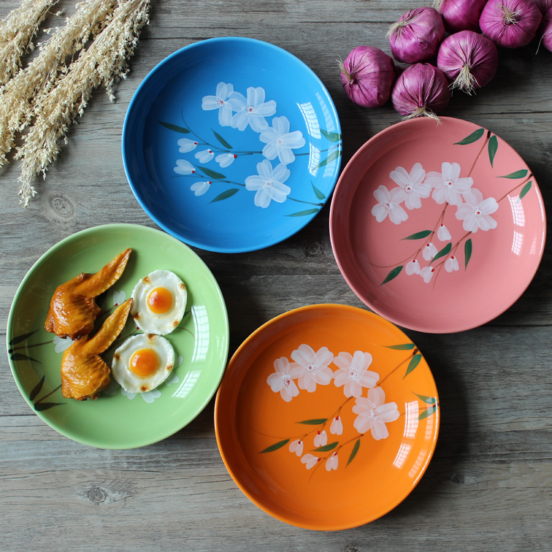 8 Inches Plant Flower Tableware Round Dishes Saucer Fruit