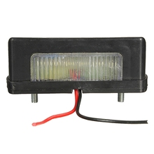 12v-24v LED Number Licence Plate Light Rear Tail Lamp Van For Camper Truck Trailer Lorry White