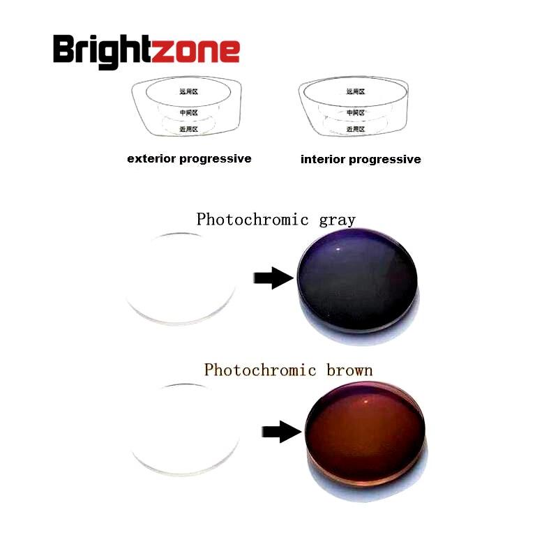 1.56 verres de prescription de résine de CR-39 de Protection UV de HC sans ligne photochromique Progressive intérieure un lentille voir près et distance