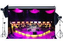 Bande Concert décors scène de luxe spectacle toile de fond Bokeh brillant scène lumières lanterne intérieur photographie fond