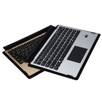 Ultra Slim Smart Aluminum Wireless Bluetooth Keyboard Leather Case Cover With Magnetic USB Cable For Microsoft