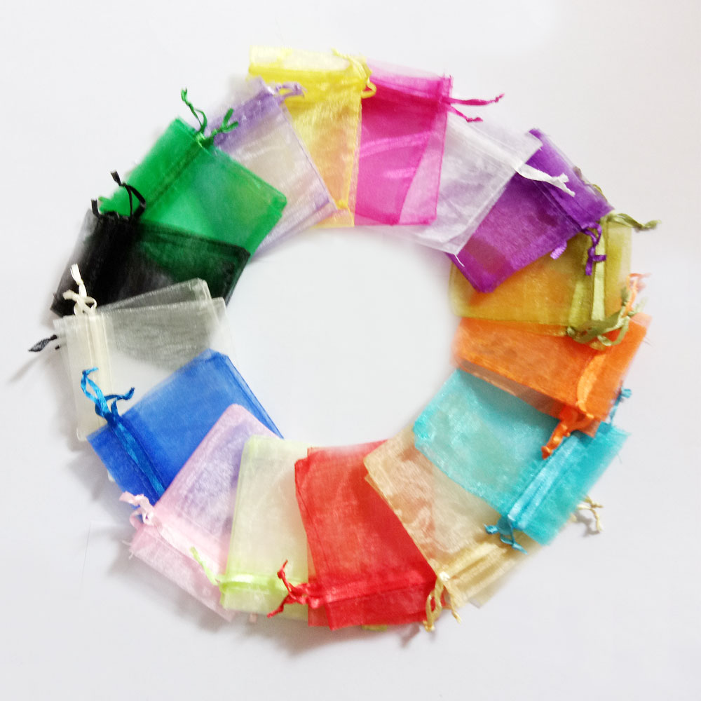 20 30cm 500pcs Multi color gift bags for jewelry wedding christmas birthday Yarn bag with handles