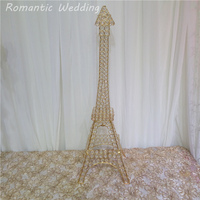 3pcs/lot On Sale Tall Effiel Tower Candle Holder Crystal Metal 35 inch Candle holders for Wedding party event home decoration