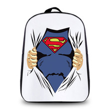 New Fashion Lovely Children Backpack Cartoon Superman/Spider man Plush Kids School Small Bag Backpack For Girls Daily Backpacks