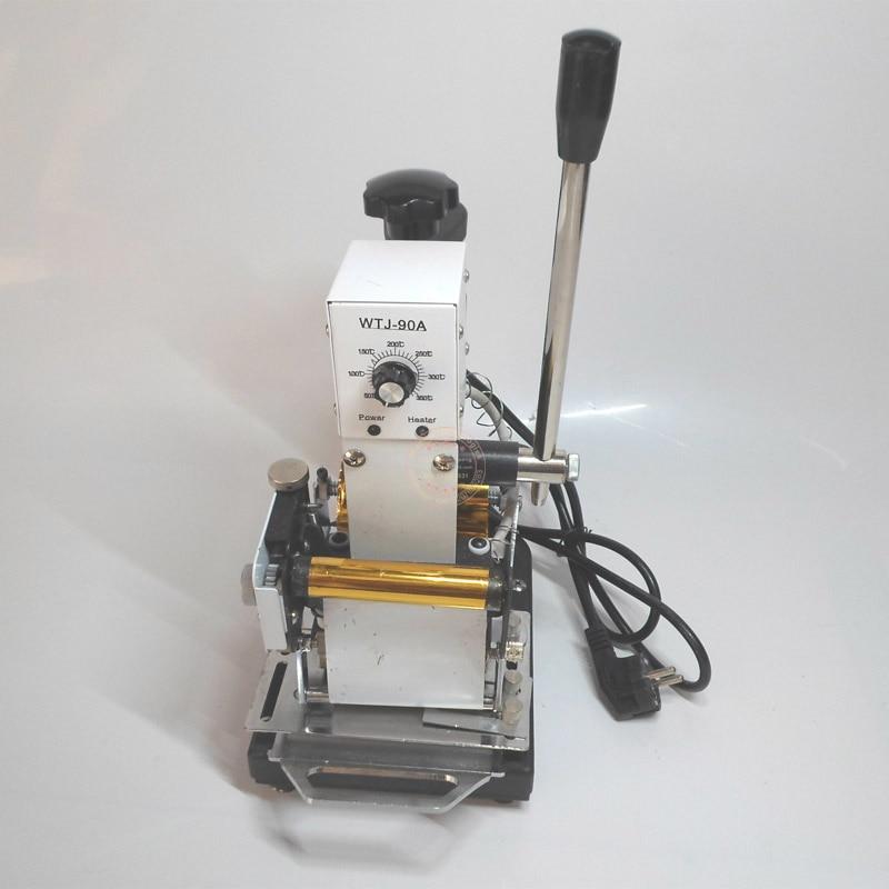 PVC card stamping machine embosser hot foil embosser gold foil ...