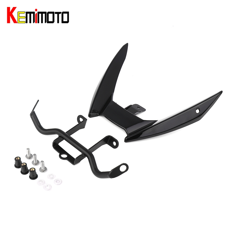 KEMiMOTO Motorcycle Accessories For Yamaha MT09 MT 09 MT-09 FZ-09 2015 2016 Headlight Bottom Bracket Mount Holder FZ09 for yamaha mt 01 mt 03 05 09 mt 10 fz 10 16 17 motorcycle navigation frame mobile phone mount bracket with usb charger