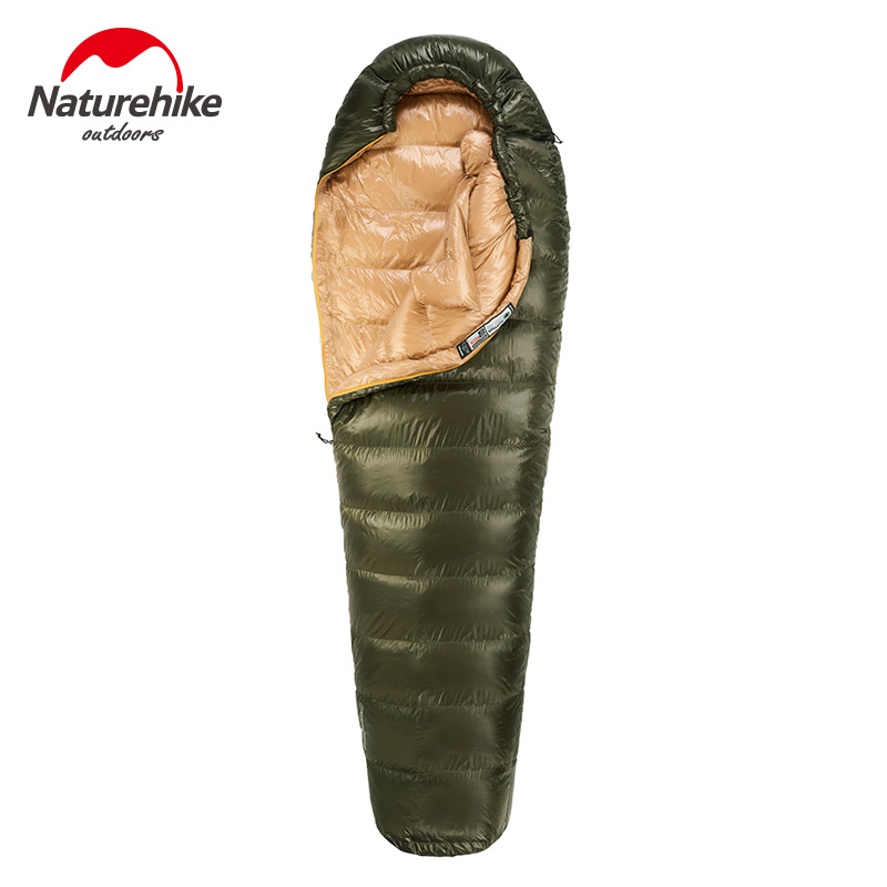 Naturehike Winter Camping Sleeping Bag Ultralight Mummy Duck Down Sleeping Bag Outdoor Hiking Keep Warm Waterproof Sleeping Bag adult down outdoor camping sleeping bag mummy model sleeping bag with waterproof nylon sleeping bag