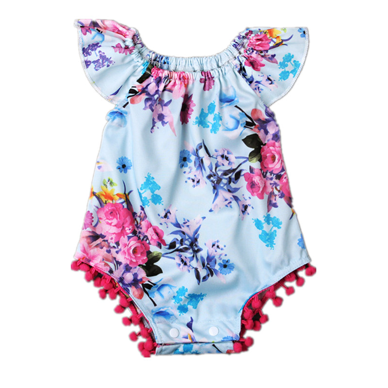 2016 new  Baby Girl Rompers Summer Girls Clothing  Flower Newborn Baby Clothes Cute Baby Jumpsuits Infant Girls Clothing