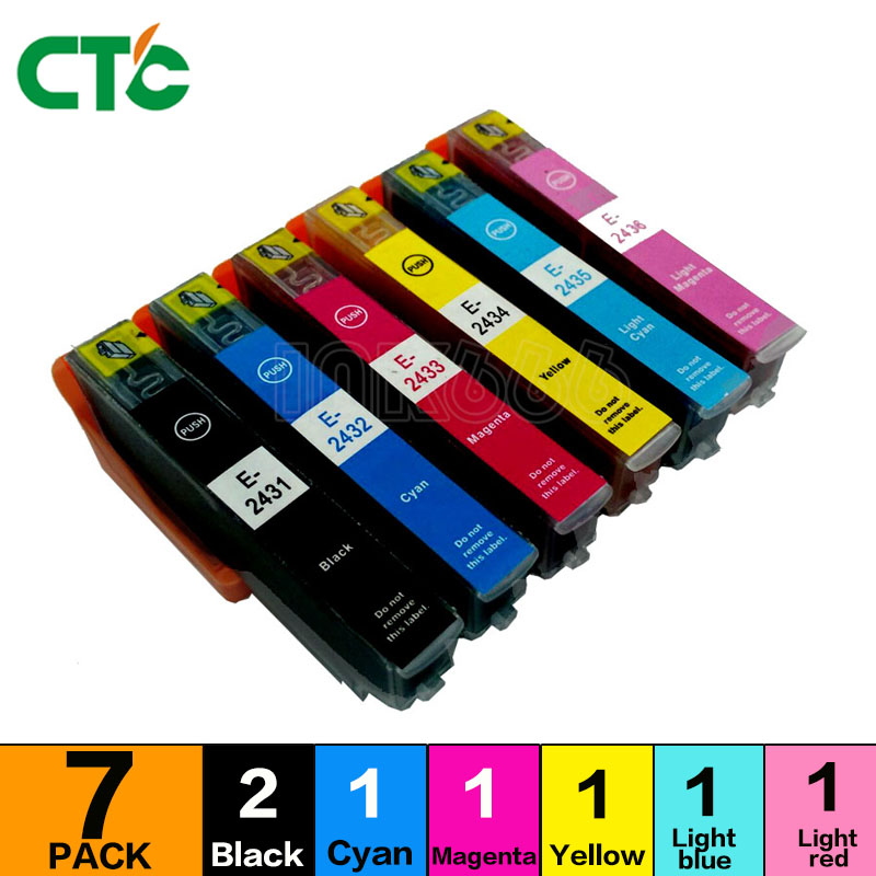7P 24XL ink cartridge compatible For XP55 XP750 XP760 XP850 XP860 XP950 XP960 inkjet cartridges T2431