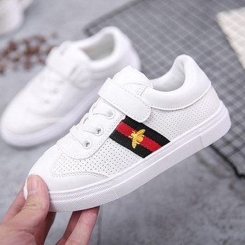 Gucci Casual Flat Sneakers White Shoes Kid Shoe Antislip Soft Bottom Kids Baby Sneaker Casual Flat Sneaker