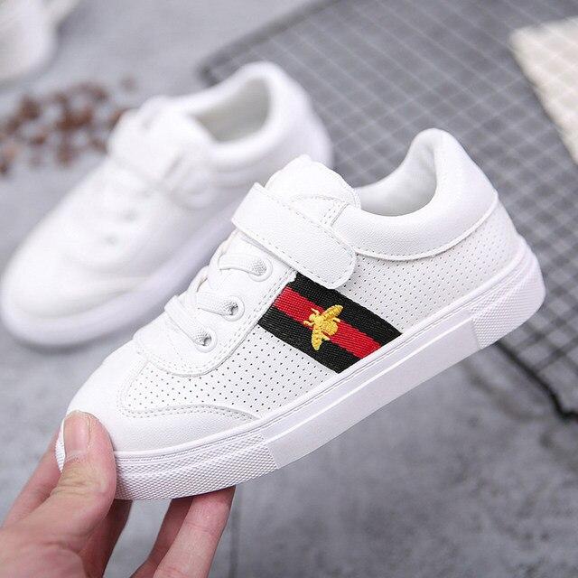 Gucci Casual Flat Sneakers White Shoes Kid Shoe Antislip Soft Bottom Kids Baby Sneaker Casual Flat Sneaker