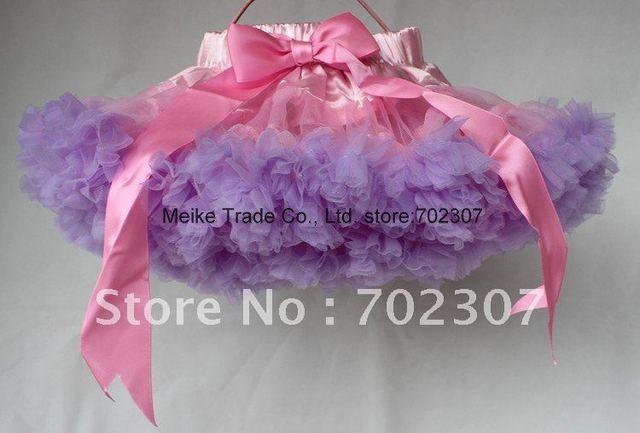 1 лот есть 5 размер бесплатная доставка девушки розовый + фиолетовый юбки детей pettiskirt дети юбка n-4655