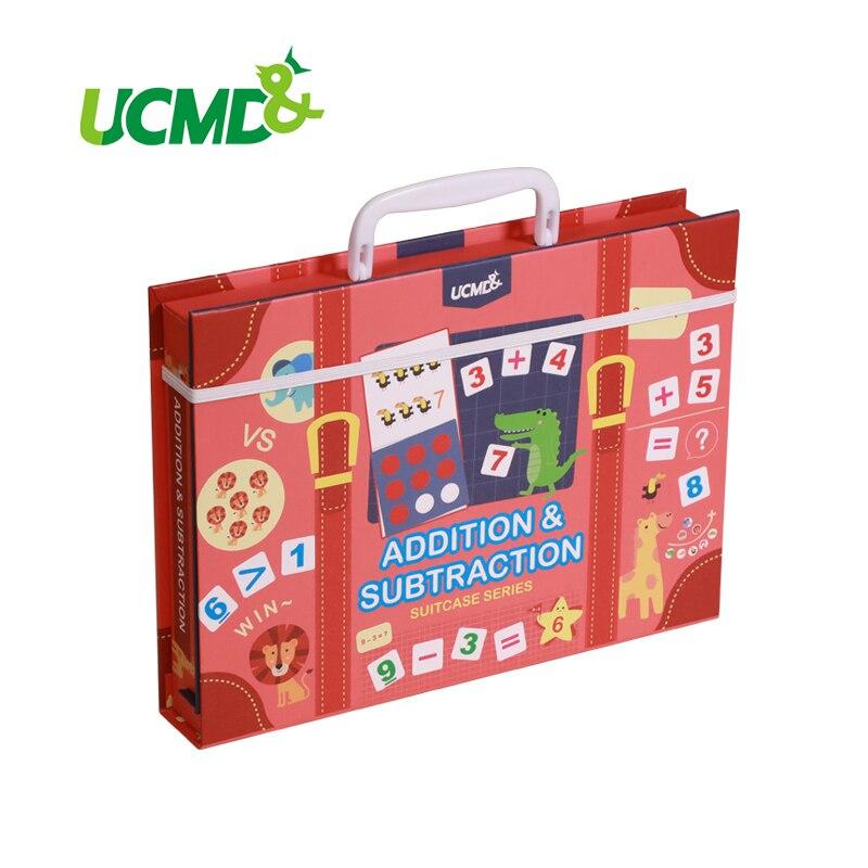 Juguete magnético Montessori de matemáticas aritmética adicional resta juego de rompecabezas de matemáticas juguetes educativos enseñanza conteo ayuda regalo - 2