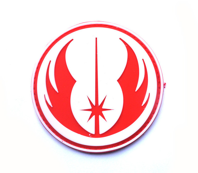 2pcs Star Wars Jedi Order Galactic Republic Tactical Badge 3d Rubber