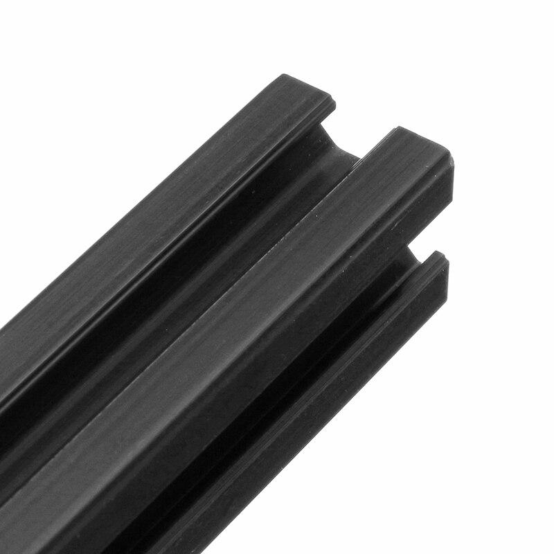 400mm Set of 8 Heavy Duty 2020 T-Slot Aluminum Profiles Extrusion Frame for 3D Printer Black