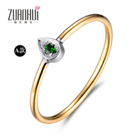 Contracted Fashion Gem Ring 18 Gold Double Color More Anniversary Wear Ring Tourmaline Schaffer Lai Shi