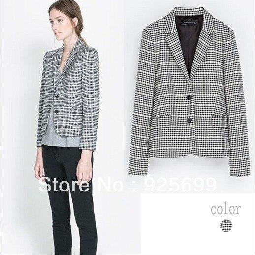 Freeshipping 2013 New Fashion European Brand Womens Basic Slim Foldable Suit Jacket Blazer Retro Stripe Punk Lady Blazers