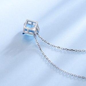 Image 5 - UMCHO collar de plata de primera ley y Topacio azul para mujer, Gargantilla, plata esterlina 925, Gema Natural, 3,4 quilates, boda
