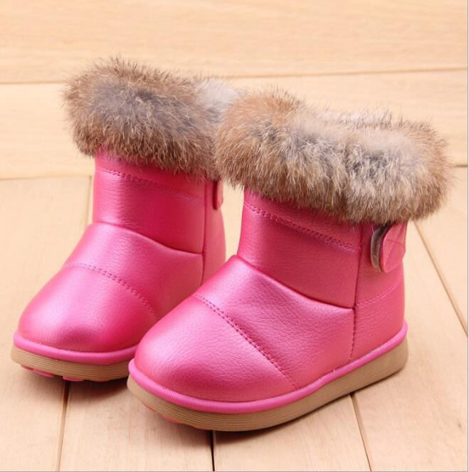 b226cb03b Зимняя мода для девочек зимние ботинки теплые плюшевые мягкое дно для маленьких  девочек сапоги детские кожаные зимние теплые сапоги для ребенка | Ботинки с  ...