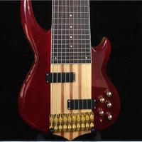 Starshine Высокое качество Custom Shop 10 струны бас Гитары Средства ухода за кожей шеи через Средства ухода за кожей активный электронный Ash Средства ...