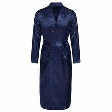 Pijama атлас ночное v-образным xxl шелковый вырезом свободные регулируемый халат твердые