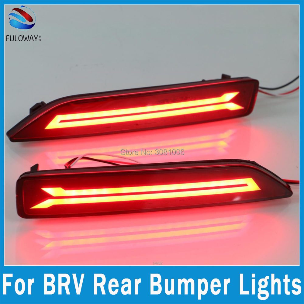 For Honda BRV 15-16 LED Tail Light Assembly Brake DRL Daytime Running Lights Fog Multi-functions Auto Rear Bumper Brake Lights for opel astra h gtc 2005 15 h11 wiring harness sockets wire connector switch 2 fog lights drl front bumper 5d lens led lamp