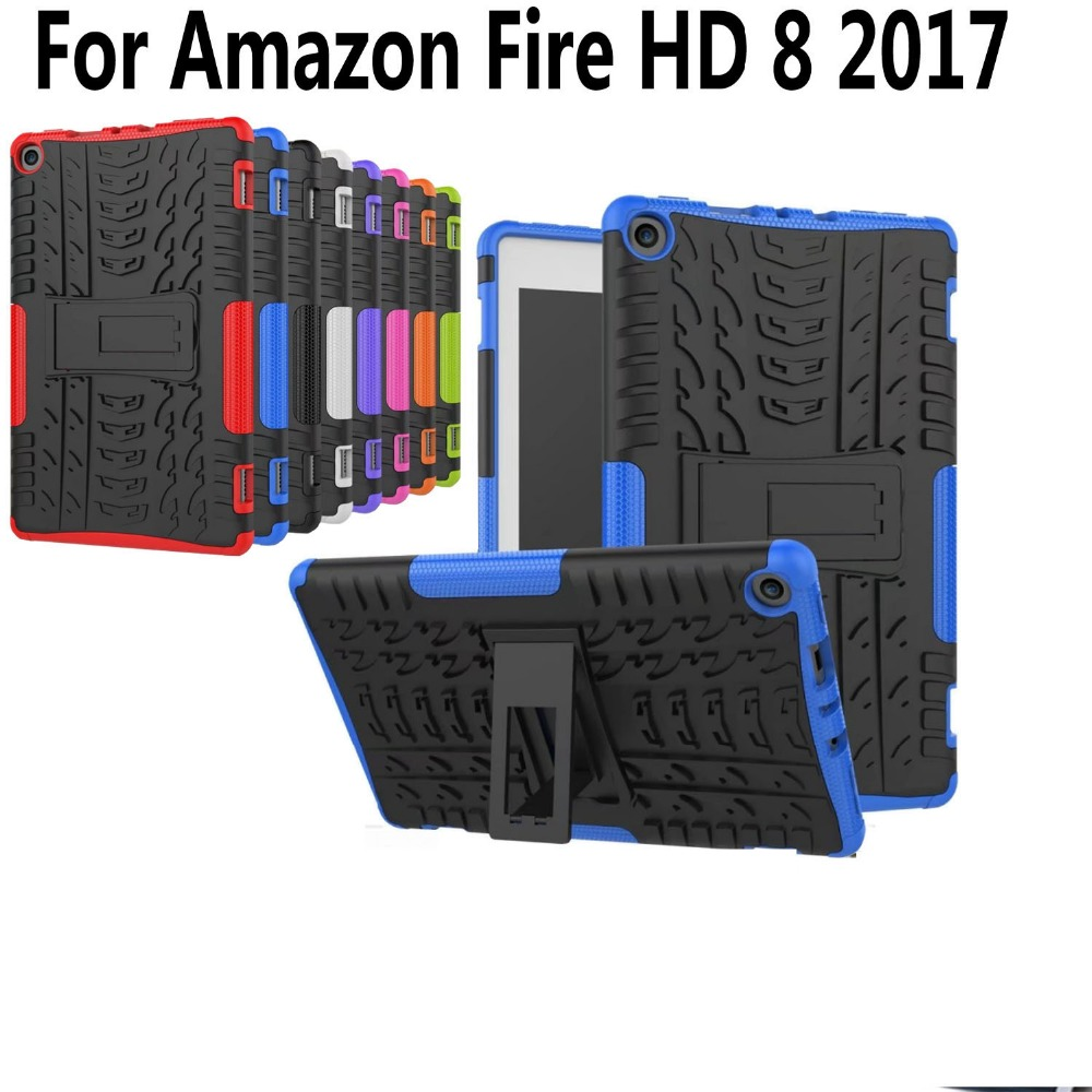 Silicon Case For New Amazon Fire HD 8 2017 Kids Safe Shockproof Kickstand Back Cover for 2017 Amazon Fire HD 8 inch +Screen Flim