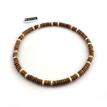 24 шт./лот, эластичные деревянные Чокеры кофейного цвета в классическом стиле, длина 45 см