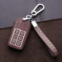 Samochód prawdziwej skórzany na klucze etui z pierścieniem do trzymania portfel dla Volvo XC90 XC60 C30 C70 S40 S60L S70 S80L V40 V50 V70 inteligentny kluczowe akcesoria tanie tanio Easwraih Górna Warstwa Skóry