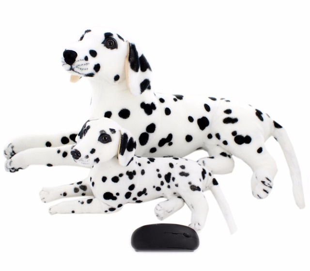 Jesonn Realistic Stuffed Animals Dog Dalmatian Plush Toys Dogs For