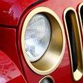 Para Jeep Wrangler JK 2007-2015 Farol Guarnição Molduras Guarnição Sobrancelha Anéis ABS Acessórios Do Carro Um Par de Cabeça Preta Quadro de luz