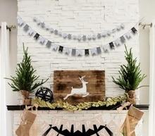 Christmas Banner Stars/Trees,/Swallow/Tails Symbols/ Mini Bunting Garland Tree Decor