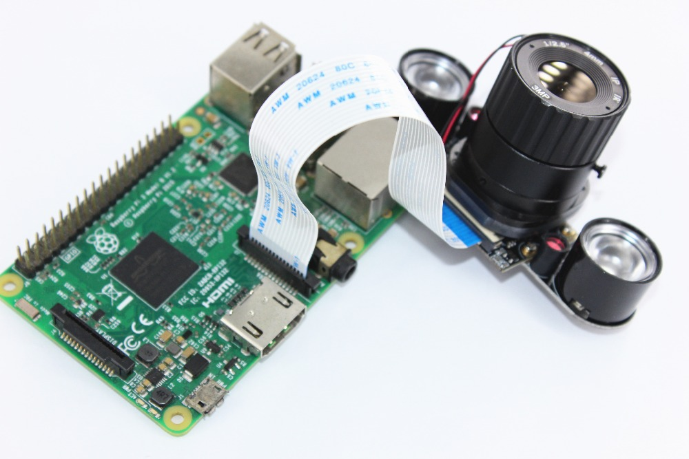 Image 4 - Raspberry Pi 3 B+ 5MP Camera IR CUT 5MP 72 Degree Focal Adjustable Length Night Vision NoIR Camera for Raspberry Pi 3 Model B+-in Demo Board Accessories from Computer & Office