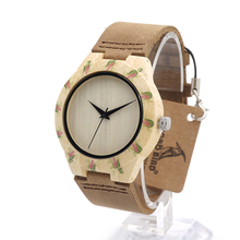 BOBO BIRD Top Design Brand Women's Luxury Wooden Bamboo Watches With Real Leather Strap Quartz Watch Ladies Relogio in Gift Box