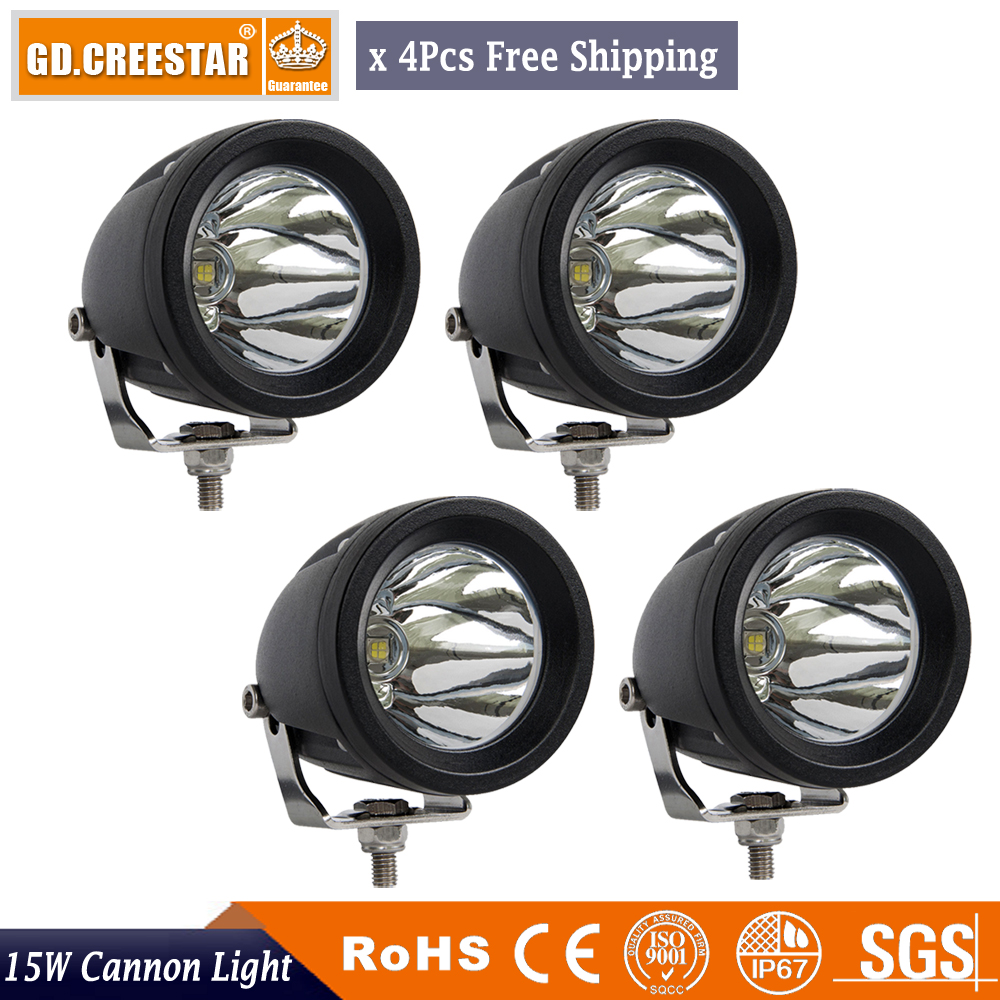 4PCS 15W Offroad LED Work Light 3'' Driving Fog Lamp Car ATV SUV 4WD UTE 4X4 Motorcycle Truck Auto 4wd Headlight Spot Flood lamp 18w work lights spot lamp off road driving fog 6 led bar atv 4x4 truck suv car styling auto parts accessories