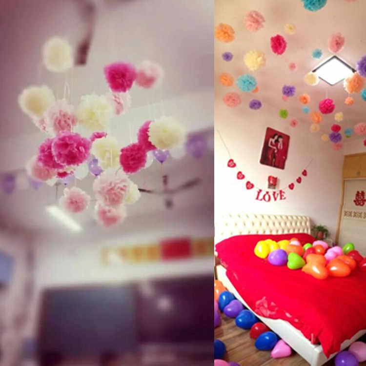 4-6-8-10-12-14inch Papel Tissue Pom Poms Baby Shower Aniversário Decoração Festa de Casamento Pompons de Papel do Dia Das Bruxas Natal Bolas
