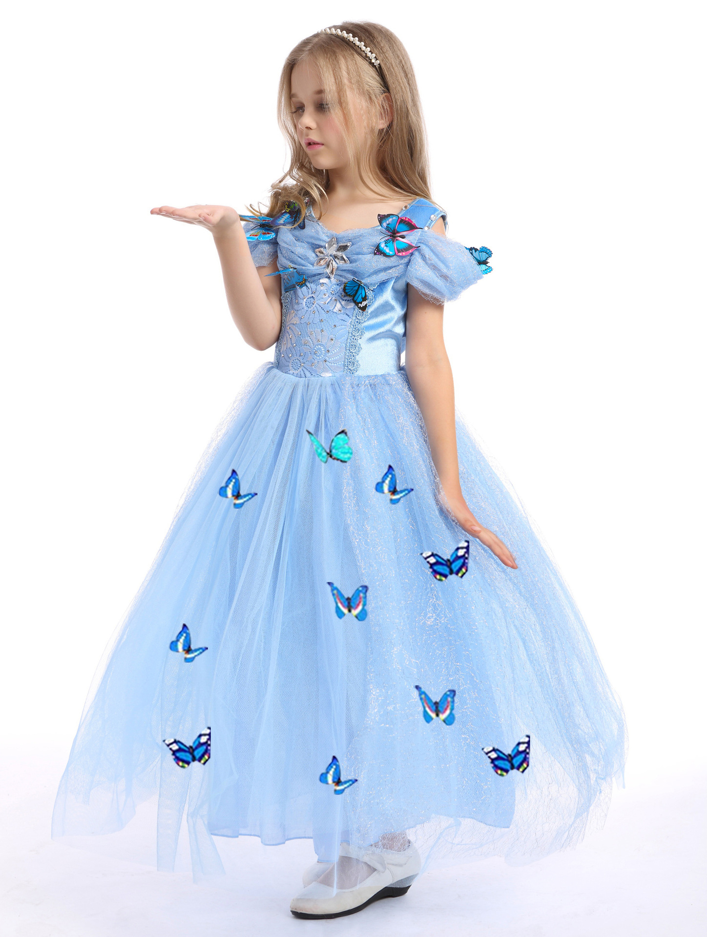 Aliexpress buy blue halloween costume for kids princess aliexpress buy blue halloween costume for kids princess little christmas gifts for children girls cinderella dress costumes clothing baby girl from ombrellifo Images