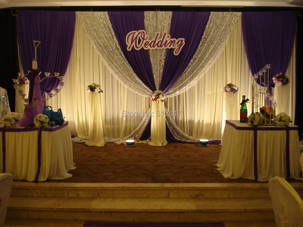 Buy hotsale elegant two layer wedding for Backdrop decoration