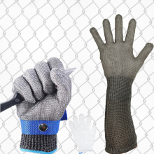 1pcs Stainless Steel Anti-cut Working Gloves Men Efficient Cut Resistant Mechanic Butcher Welding Glove White Nylon