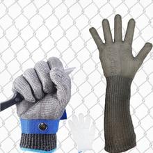 1pcs Stainless Steel Anti-cut Working Gloves Men Efficient Cut Resistant Gloves Mechanic Butcher Welding Glove White Nylon Glove chain mail gloves for butcher stainless steel chain mail gloves cut resistant gloves