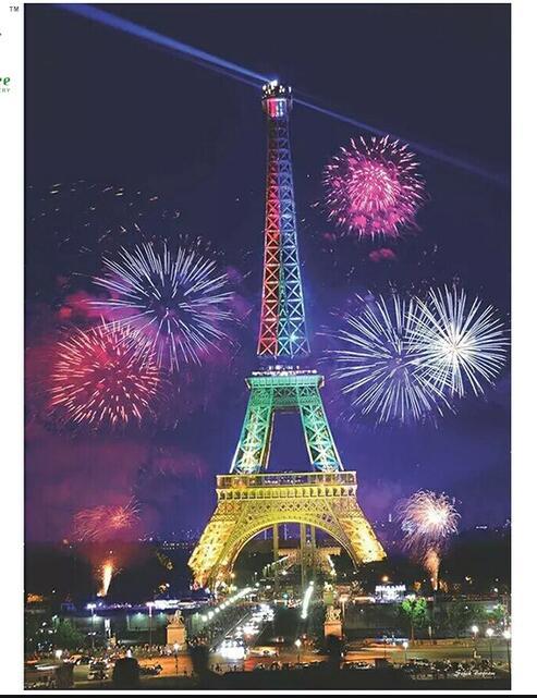tűzijáték az eiffel-torony teljes fúrása 5d gyémánt hímzés - Művészet, kézművesség és varrás