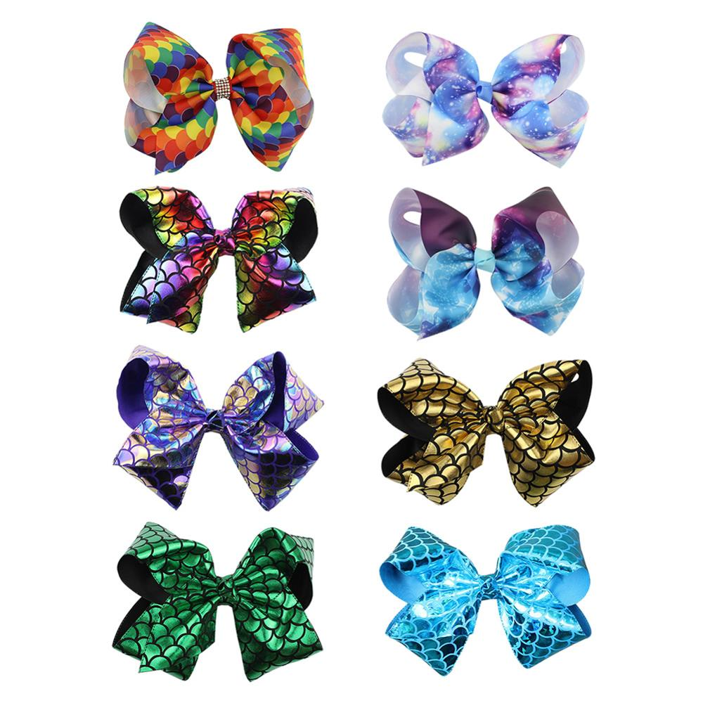 8 inch Shiny Glitter Giant Big Large Bowknot Hair Clips Barrettes Bows Party Accessories Bulk for Women Girls Kids Toddler Baby