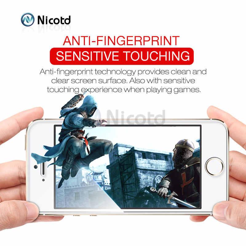 Vidro temperado para iphone 8 plus filme protetor de tela para iphone 7 plus vidro para iphone x se 5 5S resistente proteção de vidro capa