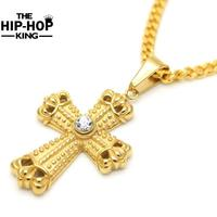 Krzyż Jezus Krucyfiks Charms Naszyjnik Hip Hop W Stylu Vintage Złoty Kolor Mechanika Style Naszyjnik Gorąca Sprzedaż Łańcucha Naszyjnik dla Mężczyzn