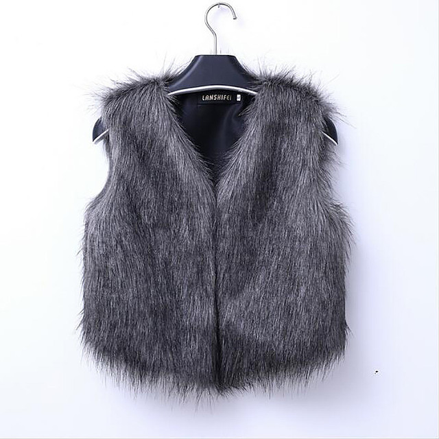 New Arrival 2017 New Fashion Women Winter Coat Women Sleeveless Coat Fake Fur Vest Jackets Casual Slim Hair Waistcoat Plus Size