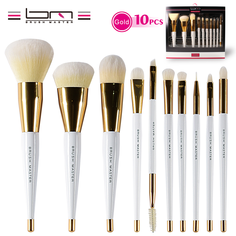 BM Brush Master Vitamin-C Synthetic Vegan Makeup Brush Set Professional Silky Soft Makeup Brushes With Gift Package soft makeup brush 1pc